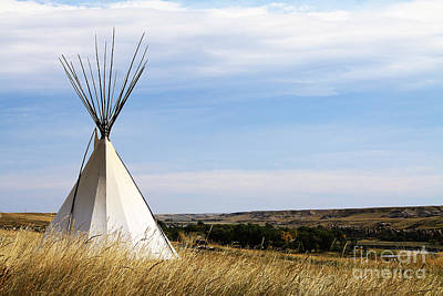 Poster featuring the photograph Blackfoot Teepee by Alyce Taylor