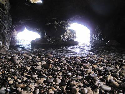 Blackhall Caves. Hartlepool Poster