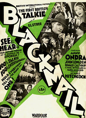 Blackmail - 1929 Poster