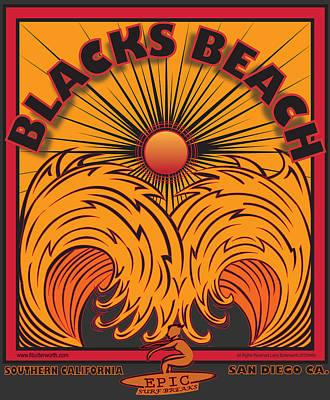 Blacks Beach San Diego California Poster