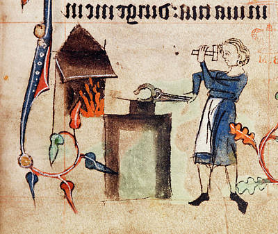 Blacksmith At Work Poster by British Library
