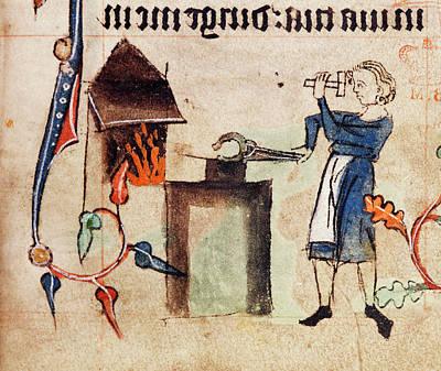 Blacksmith At Work Poster