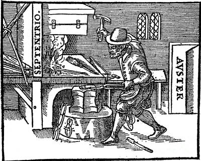 Blacksmith, Magnetic Forces, 17th Poster by Science Source