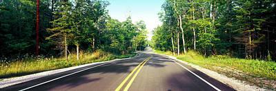 Blacktop Asphalt Curving Highway, Route Poster