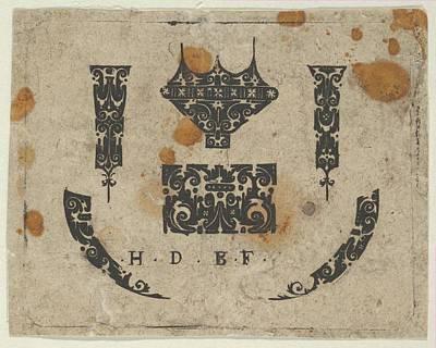 Blackwork Print With A Ring Bezel Poster by Hans de Bull