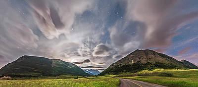 Blakiston Valley By Moonlight Poster