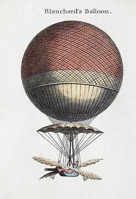 Blanchard Balloon Flight Poster