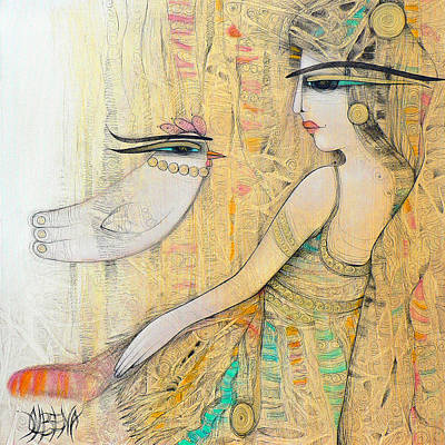 Blanche Poster by Albena Vatcheva