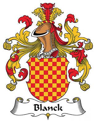 Blanck Coat Of Arms German Poster by Heraldry