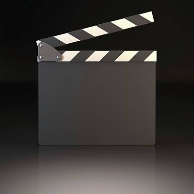 Blank Clapperboard Poster