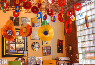 Blast From The Past - Vinyl Records Poster by Liane Wright
