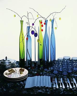 Blenko Glass Bottles Poster