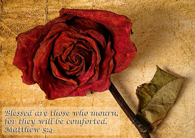 Blessed Are Those Who Mourn Poster by Dawn Currie