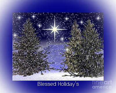 Blessed Holidays Poster by Eva Thomas