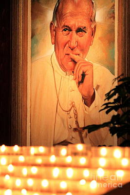 Poster featuring the photograph Saint John Paul II by Theresa Ramos-DuVon