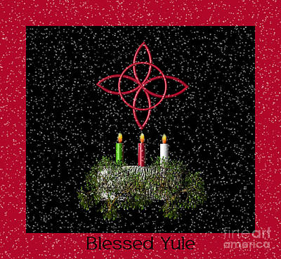 Blessed Yule Poster by Eva Thomas