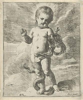 Blessing Christ Child, Erasmus Quellinus II Poster by Erasmus Quellinus (ii) And A. Bacx