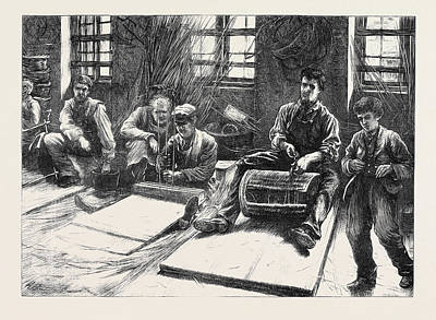 Blind Basket-makers 1871 Poster by English School