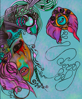 Blind Beauty Insight Poster by Katey B