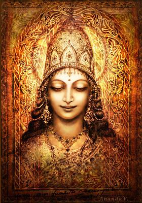 Blissful Goddess Poster by Ananda Vdovic