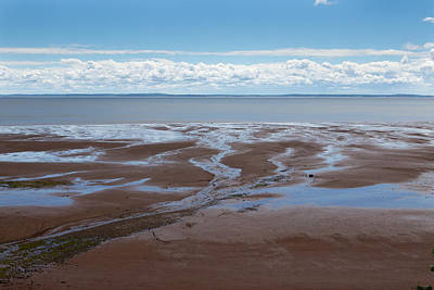 Blomiden Park On The Minas Basin In The Bay Of Fundy Poster by Barbara Eckstein