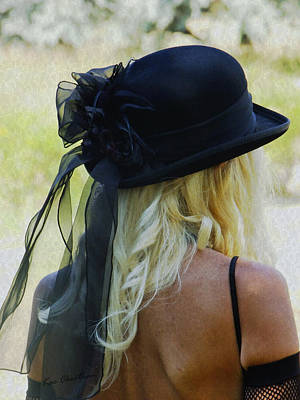 Blonde In Black Hat Poster by Kae Cheatham