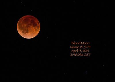 Blood Moon 2014 Poster by Cheryl Birkhead