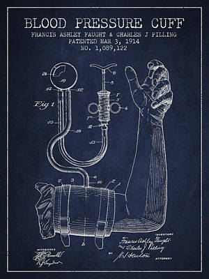 Blood Pressure Cuff Patent From 1914 Poster by Aged Pixel