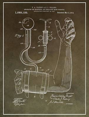 Blood Pressure Machine Patent Poster