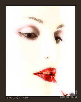 Blood Red Lipstick Poster