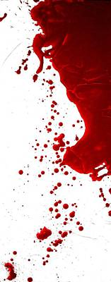 Blood Splatter  Poster by Holly Anderson