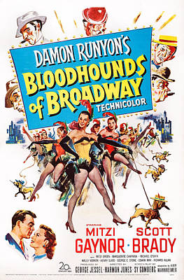 Bloodhounds Of Broadway, Us Poster Poster by Everett
