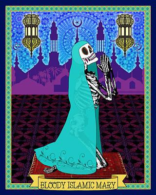 Bloody Islamic Mary Poster by Tammy Wetzel