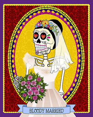 Bloody Married Poster by Tammy Wetzel