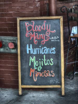 Bloody Marys Poster by Brenda Bryant