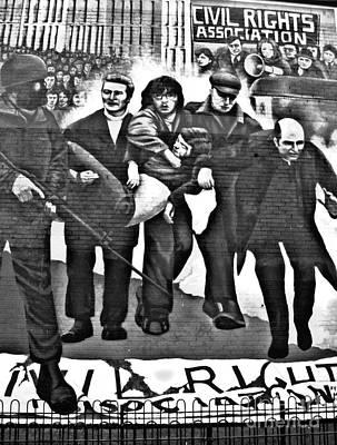 Bloody Sunday Original Mural  Poster by Nina Ficur Feenan