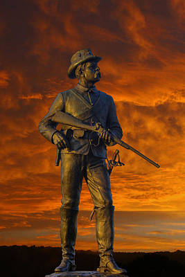 Bloody Sunset 2nd Pennsylvania Calvry Monument Poster
