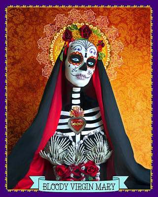 Bloody Virgin Mary Poster by Tammy Wetzel