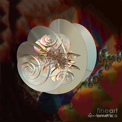 Blooming Spiral Poster by Leona Arsenault