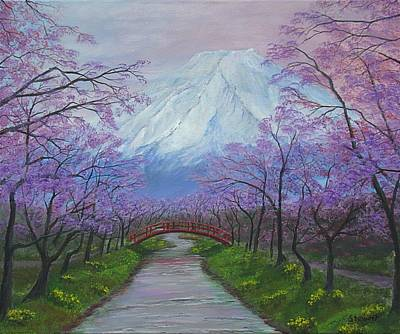 Blooms Of Fuji  Poster