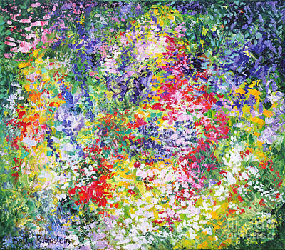 Blossom In Lilac Poster by Betty Rubinstein
