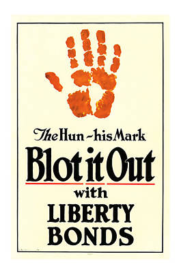 Blot It Out World War 1 Liberty Bond Art Poster by Presented By American Classic Art