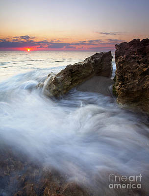 Blowing Rocks Sunrise Poster by Mike  Dawson