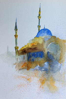 Blu Mosque Poster by Gianni Raineri