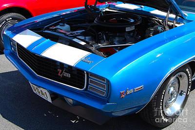 blue '69 Camaro Z28 Poster