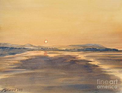 Poster featuring the painting Blue Anchor Sunset by Martin Howard