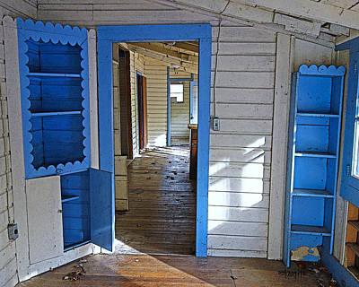Abandoned Elkmont Cabin Old House Interior Poster by Rebecca Korpita