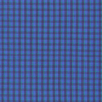 Blue And Green Checkered Pattern Fabric Background Poster by Keith Webber Jr