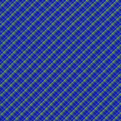 Blue And Green Diagonal Plaid Pattern Cloth Background Poster by Keith Webber Jr
