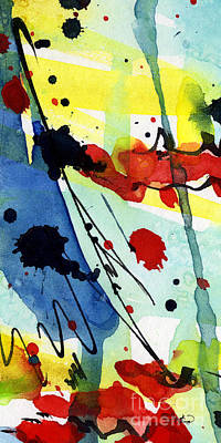 Blue  And Red Intuitive Abstract Series #1 Poster